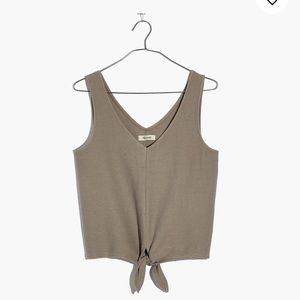 Texture & Thread Madewell tie front tank
